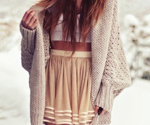 cardigan, girl, and style image
