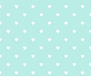blue, hearts, and backgorund image