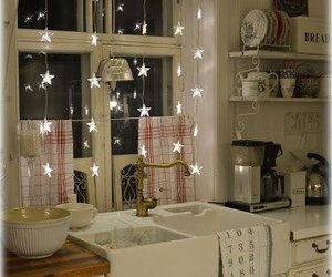 kitchen, stars, and decor image
