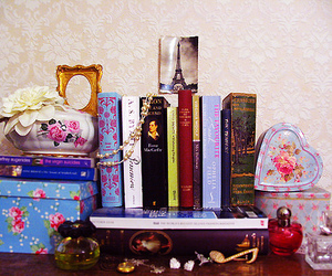 book, perfume, and vintage image