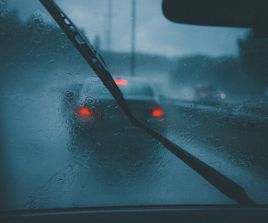 rain, car, and rainy image