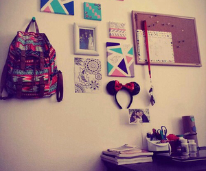 backpack, books, and cool image