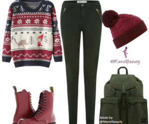 chirstmas, deer, and outfit image