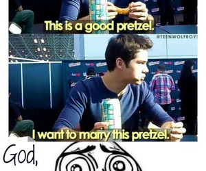 dylan o'brien, pretzel, and teen wolf image