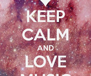 music and keep calm image