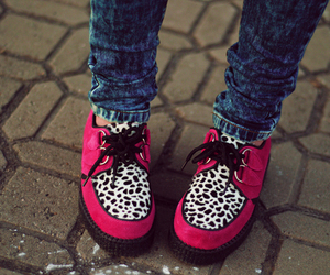 shoes, pink, and creepers image