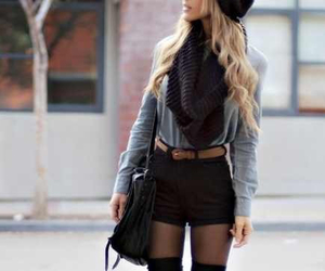 cool, outfit, and scarf image