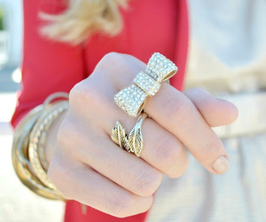 fashion, ring, and gold image