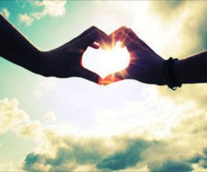 love, heart, and sun image