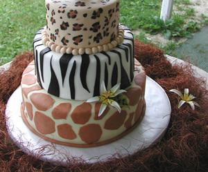 animal print, birthday, and cake image