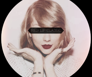 red lip, style, and Taylor Swift image