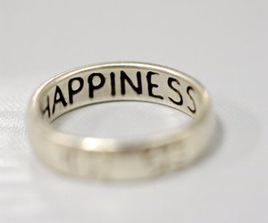 happiness and ring image