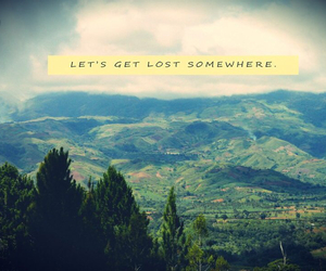 landscape and quote image