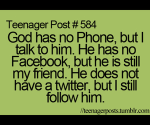 god, facebook, and twitter image