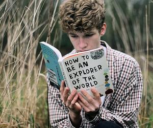 boy, book, and explorer image