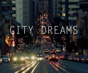 city, Dream, and light image