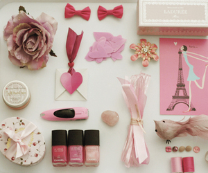 pink, paris, and nail polish image