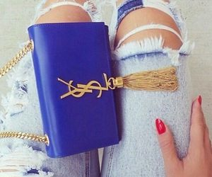 fashion, YSL, and blue image