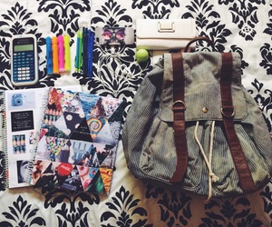 back, supplies, and back to school image