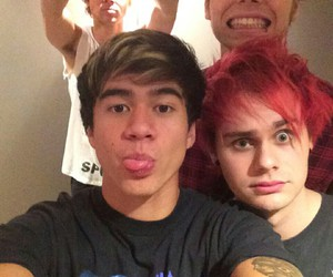 5sos, calum hood, and michael clifford image