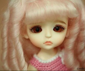 baby, baby doll, and pink image