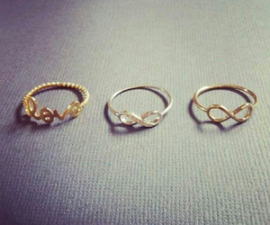 love, rings, and infinity image