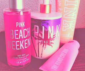 pink, beach, and Victoria's Secret image