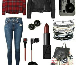 casual, jeans, and leather image