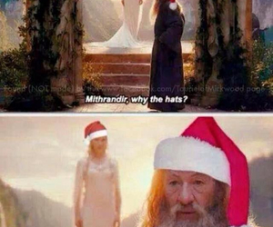 christmas, gandalf, and lord of the rings image