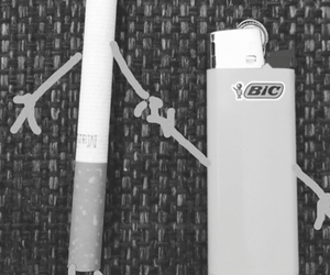 awesome, bic, and cigarette image