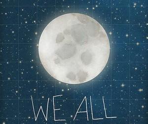 moon, shine, and stars image