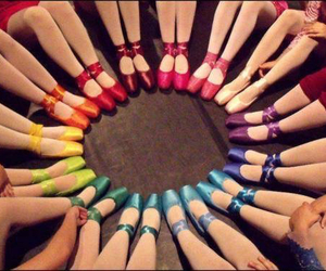 ballet, dance, and rainbow image