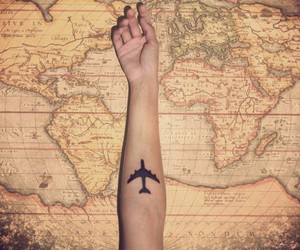 plane, travel, and wanderlust image