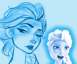 concept art, disney, and frozen image