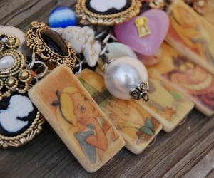 alice in wonderland, bracelet, and alice image