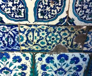 art, blue, and tile image