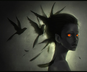 art, face, and fantasy image