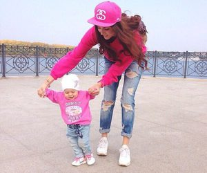 baby, pink, and love image