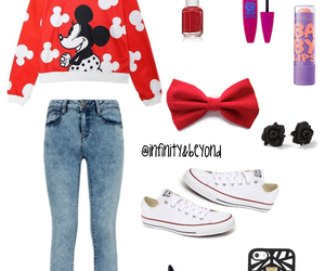 black, convers, and earrings image
