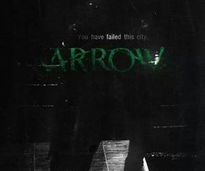 arrow, green, and dark image