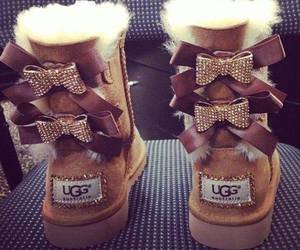 ugg, bow, and boots image
