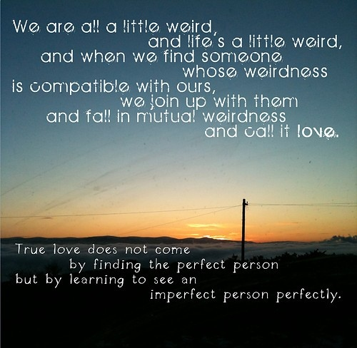 love the imperfect person perfectly