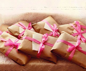 pink, present, and gifts image