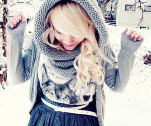 winter, snow, and blonde image