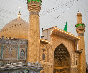 gold, mosque, and iraq image