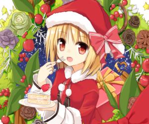 anime, anime girl, and cake image