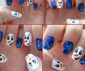 christmas, frozen, and olaf image