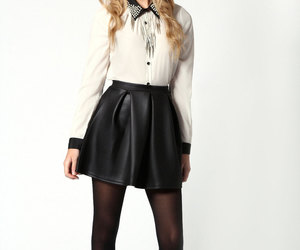 booties, pantyhose, and style image