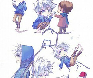 jack frost, rise of the guardians, and anime image