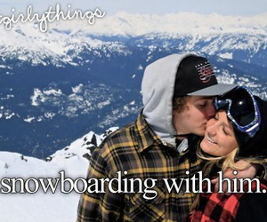snowboarding and him image